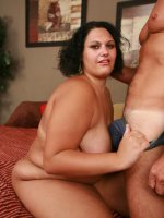Horny dude satisfies his curiosity for fat chick by hooking up with sexy BBW Chloe Blake