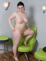 Beautiful chubby teen posing naked