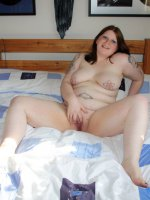 Adorable chubby babe with yummy tattoed nipples