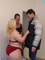 Chubby ol? bitch gets it on with 2 guys at a time