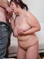 Sexy young plumper enjoys sucking and riding dick