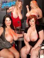 The Red Hot Titty Peppers At K-jugs - Reyna Mae,  Samantha,  Brandy Ryder,  Renee Ross - BBW,  Blowjob,  Cumshot,  Group Sex