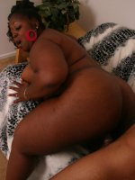 Ebony BBW Subrina shows off her massive black booty and straddles on top to get lapped
