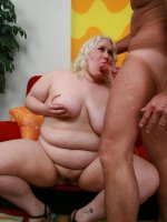 Sexy bbw Tina Rose takes cock gagging and hard pussy fucking before getting cum glazed all over her mug