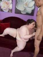 Busty BBW Jelli Bean fucked well in different positions and glazed with fresh man juice