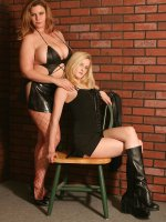 Chubby Tiffany Blake brought her girlfriend to have some hot lesbian fun