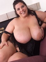 Cute chubby milf with huge tits Sam spreading legs and masturbating
