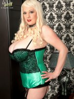 The Girl In Silk Stockings And A Corset - Emilia Boshe - BBW