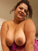 Tanned bbw slut Chula Love playing with her huge tits