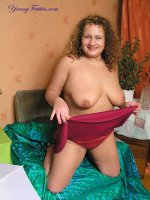 Amazing beautiful big girl in silk panties