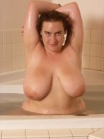 Sweet BBW babe Karise getting ready for a hot fun bath tub masturbation
