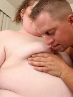 Huge plump bitch filling her fat fanny with a hard dick