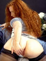 Busty bbw redhead flaunting that hot big ass and nice wet pussy