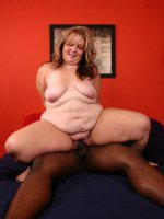 Cute blonde BBW Dani takes heaps of cock punishment from a well endowed black guy