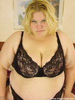 Thick ugly blonde shows