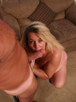 Horny blonde bbw Jenna spreading her fat muffs wide to welcome a stiff man pole in her slit