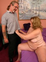 Sex starved mature bbw CC takes hard cock shoving down her throat and longing twat
