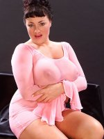 Chubby Betty Boob flaunts her nice big boobs in a sexy pair of heels