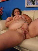 Hot matured bbw Mona slurping a thick cock and taking it deep into her chubby slit