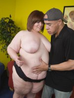 Big babe Jezzebel Joli gets the treatment a queen size beauty like her deserves from a horny guy