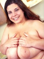 Amateur chubby Sam is happy to show her big ass and big boobs