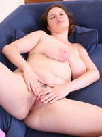 Willing young fatty pulls her pussy open for you