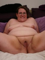 Sweet and hot bbw Lorelie munching on a huge wang and spreading her thighs to take cock shoving