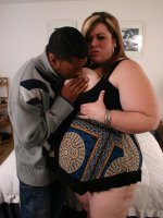 Young hot and plump babe Deserie takes black cock stuffing in her mouth and fat gash
