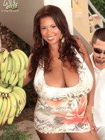 Vanessa Del & The Banana Man - Vanessa Del - BBW,  Blowjob,  Cumshot