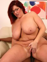 Intense live sex with cute BBW Peaches cramming her fat pussy with a big black dick