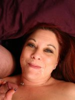 Horny and sultry fatty Nina gets wild and gives an older stud a ride in her fat and juicy slit