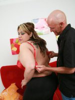 Hot and huge bbw Tasha spreading her big fat thighs to take cock pounding in her juicy twat