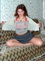 Young chubby teen showing striptease