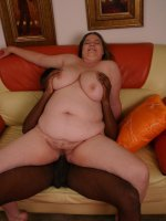 Hot bbw model Charlly playing with her scrumptious looking muff and takes black cock ramming in her slit
