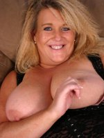 Large and chesty blonde babe Deedra gets her big jugs pleased before filling her mouth with dick
