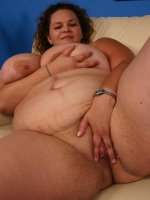 Huge bbw Mona Mounds showing off her awesome blowjob and taking a black cock in her chubby pussy slit