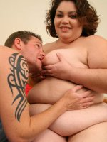 Horny fatty getting rammed in the pussy
