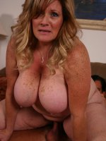 Hot and horny matured bbw Deedra takes cock stuffing in her mouth and fat covered pussy