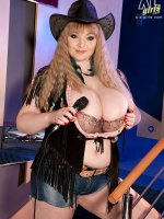Even Cowgirls Grow Huge Boobs - Micky Bells - Natural Boobs