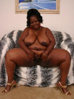Massive ebony Subrina humping on top of her partner to take his stiff cock deep into her bbw pussy