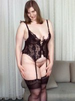 Smoking hot bbw hottie in stockings and sexy lingerie teases on her couch