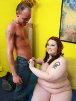 Big bbw Harmony does a little striptease to lure her partner into fucking her fat muff