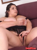 BBW women with some big natural tits and a lovely shaved pussy
