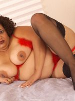 Chubby babe Chula showing off her perky fat nipples in some sexy lingerie