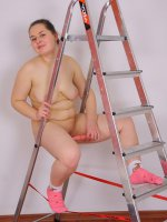 Naughty fat teeny wants to stick dildo up her slit