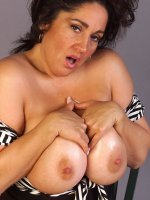 Bbw mature hottie Ashley showing her round fat boobs and much more