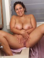 Smoking hot and naughty little BBW Loretta getting hot and horny
