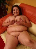 Cock loving bbw Reyna playing with her rack before she gets stuffed by a fat cock in her pussy
