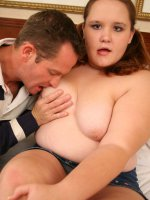 Teen bbw filling her warm mouth with cock