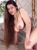 Hot chubby lady with a hairy pussy teasing